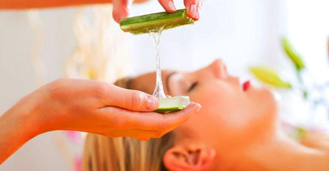 ansiktsbehandling med aloe vera
